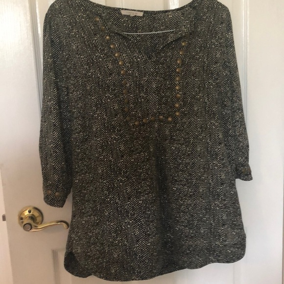 41 Hawthorn Tops - Black & White Blouse